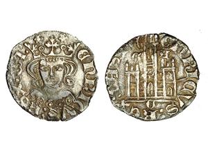 Dinero coronado o cornado de Enrique II. Zamora 1373-3-momeca-vico-CA