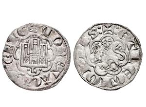 Dinero de la 2ª guerra de Granada de Alfonso X. León Alfonso-x-1276-momeca-tau-L