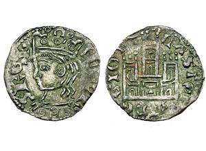 Dinero coronado o cornado de Alfonso XI. Toledo Alfonso-xi-cornado-momeca-vico-T