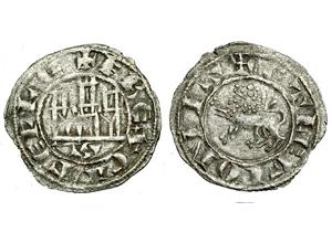 Dinero de Fernando IV. Emisión 1297. Sevilla (S tumbada) Fernando-1297-momeca-vico-S