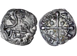 Dinero de Alfonso IX.  Momeca-alfonso-ix-santiago