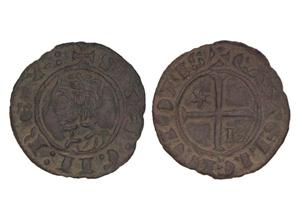 Meaja coronada de Sancho lV. Burgos Sancho-1286-ii-momeca-ibercoin-B